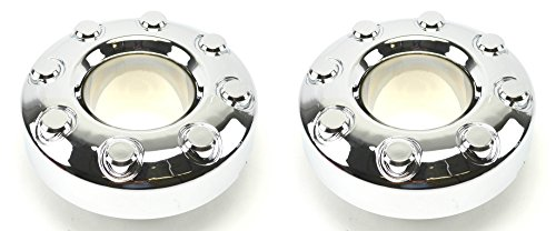BB Auto Pair of 2 New Front Open 4x4 Chrome Wheel Center Caps Replacement for 2005-2017 Ford F350 Dually Pickup Truck -