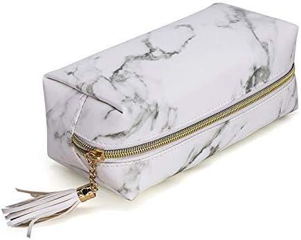e8830686791e78 Joyful 3pcs Marble Travel Cosmetic Bag Set Clear Makeup Bag Cosmetic Bag  Set Marble Bag (Color A)