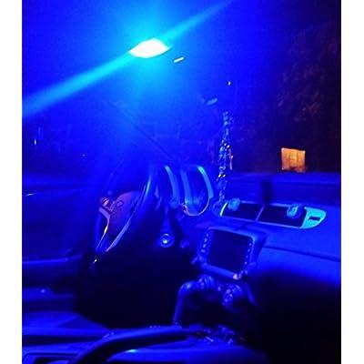 Alla Lighting CANBUS Blue DE3022 DE3175 LED Bulb Xtreme Super Bright 31mm Error Free Festoon DE3021 3175 6428 3030 SMD Cars Trucks Interior Dome, Map, Trunk, Door, Glove Box Lights Replacement, 10000K: Automotive