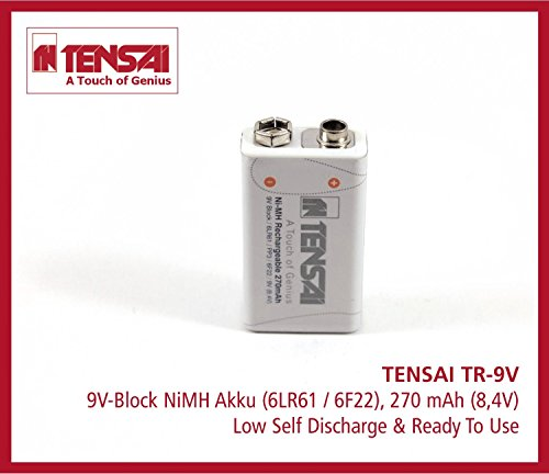 Tensai TR-9V 9V-Block 6LR61 6F22 Ready2use Low Self Discharge Akku (270mAh)