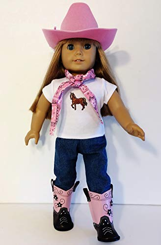 Boots Western Clothes (The Wishlist Store Western Cowgirl Cowboy Outfit ~ 18 Inch Doll Clothes Fits 18