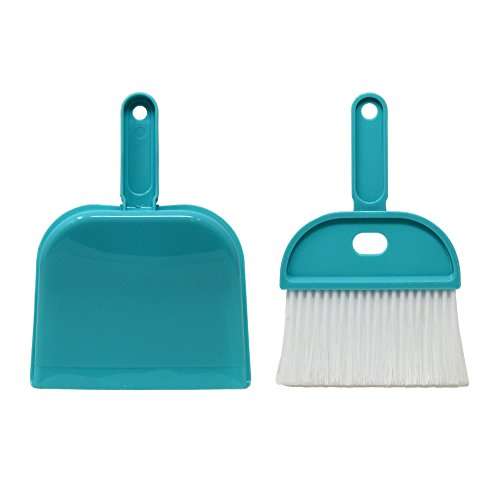 Mini Whisk Broom and Dust Pan Set, Blue