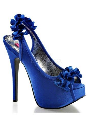 - Pleaser Bordello Women's Teeze 56 Boots,Blue,6 M