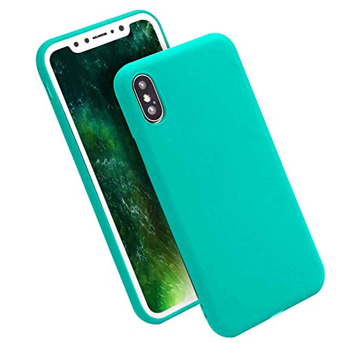iBarbe iPhone X Case,iPhone 10 Case,Lightweight Soft Silicone Case,Thin TPU Rubber Skin Cover Minimalist Slim Protective Shock-Absorption Bumper Phone Case [Slim Fit] for Apple 5.8