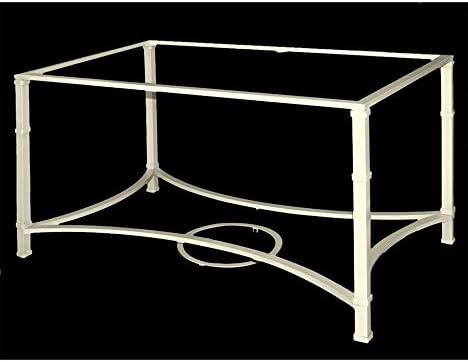 Mesa de Camilla de forja Aracena - con aglomerado, 19-Blanco, Mesa de forja elevable, Mesa de 90x90 cm.: Amazon.es: Hogar