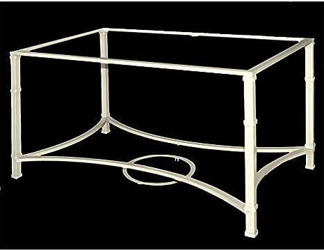 Mesa de Camilla de forja Aracena - con aglomerado, 19-Blanco, Mesa de forja elevable, Mesa de 120x70 cm.: Amazon.es: Hogar