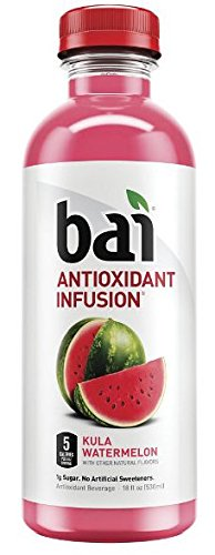 Bai Kula Watermelon, Antioxidant Infused Beverage, 18 Fl. Oz. Bottles (Pack of 12)