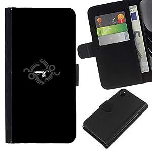 // PHONE CASE GIFT // Moda Estuche Funda de Cuero Billetera Tarjeta de crédito dinero bolsa Cubierta de proteccion Caso Sony Xperia Z3 D6603 / Gun Station /