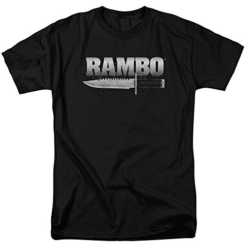 Trevco Unisex-Adults Rambo: First Blood Knife T-Shirt, Black, Small