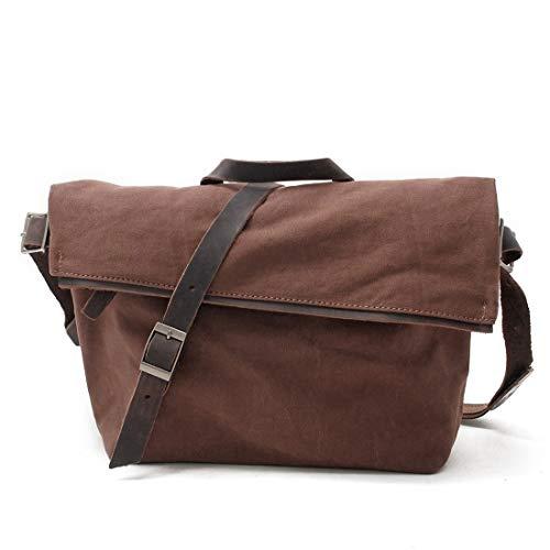 AIYAMAYA Bolso Bandolera Messenger para Hombre Lona Vintage Bolso del día de Crossbody para la Escuela y el Trabajo (Color :...