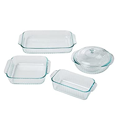 Pyrex Sculpted Glass Bakeware Set (5-Piece)