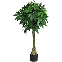 Nearly Natural Artificial Braided Money Tree, 51-inch