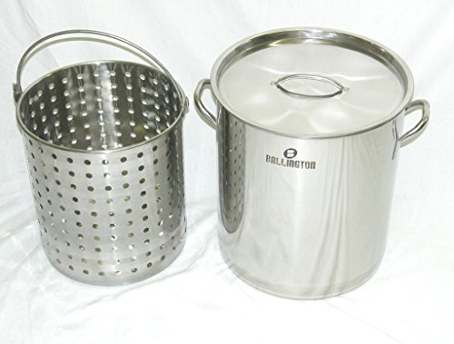 Ballington 42-Quart Stainless Steel Stock Pot w Fry/Steamer/
