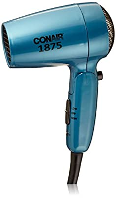 Conair Vagabond Compact 1875 Watt Folding Handle Hair Dryer; Teal
