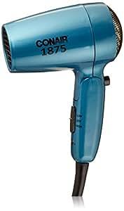 Conair Vagabond Compact 1875 Watt Folding Handle Hair Dryer; Teal