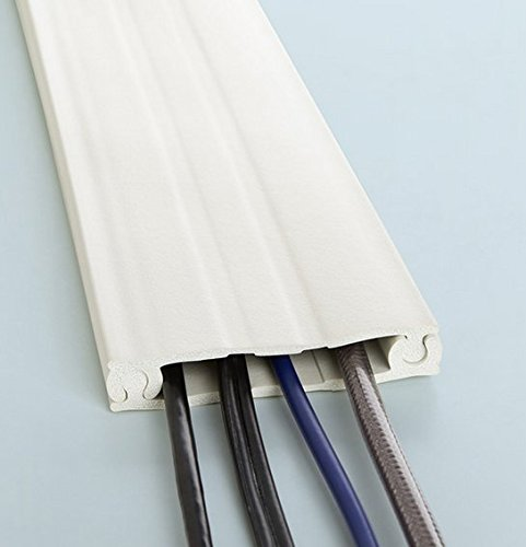 8-ft Cordline, 2-Way Cord Channel, Paintable White