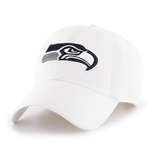 OTS NFL Seattle Seahawks Male Challenger Adjustable Hat, White, One Size