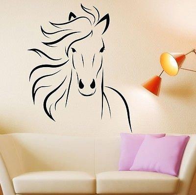 Wild Animal Horse Mustang Wall Decal Room Decor Sticker Viny