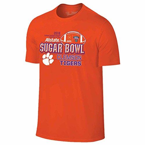 Clemson Tigers Bowl Game - Campus Colors Clemson Tigers Adult NCAA 2018 Sugar Bowl Team T-Shirt - Orange, Medium