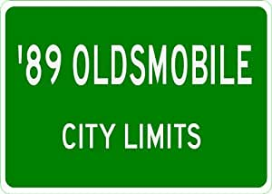 1989 89 OLDSMOBILE CUTLASS CUSTOM CRUISER City Limit Sign - 10 x 14 Inches