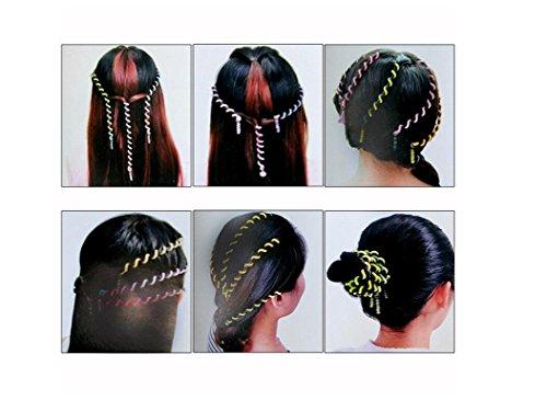 Wetietir 6Pcs Girls Hair Twist Wraps Hair Flexible Wire Spiral Spin Stick Hair Perm (Perm Wire)