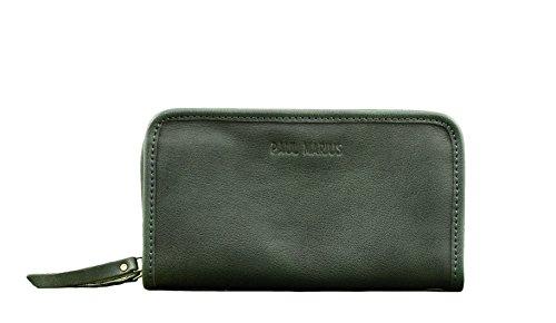 MON COMPAGNON Verde Cuoio portafoglio in pelle stile Vintage PAUL MARIUS