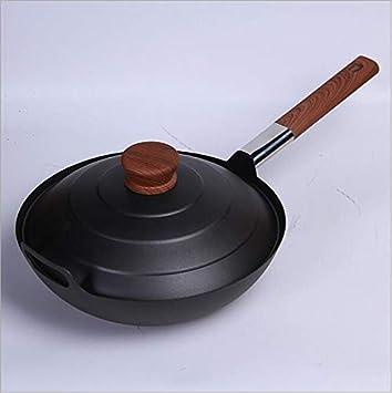 Olla de tres piezas olla de hierro antigua Olla de hierro fundido Pross set olla de sopa frita personalizada,B: Amazon.es: Hogar