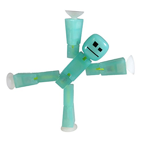 Stikbot, Translucent Light Green Stikbot Action Figure [Glows In the Dark], 3 Inches
