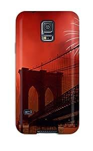 Tpu Mae Araujo Shockproof Scratcheproof New York City Brooklyn Bridge Hard Case Cover For Galaxy S5