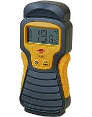 Brennenstuhl Détecteur d'humidité pour divers matériaux, humidimètre avec affichage digital LCD & signal sonore, anthracite & jaune, Quantité : 1