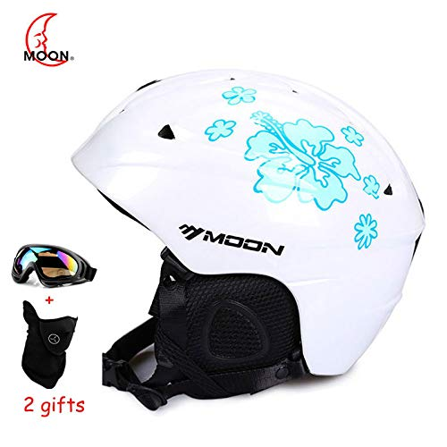 MOON MS-86 Skiing Helmet Autumn Winter Adult Snowboard Skateboard Skiing Equipment Snow Sports Safety Ski Helmets for Men Women (#09, ()
