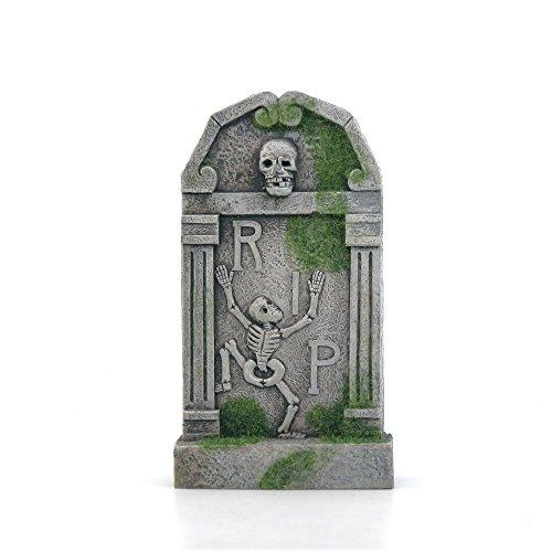 Mossy Skull Rip Tombstone Halloween Decor (Funny Gravestones For Halloween)