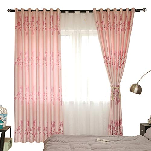 Curtain Korean Pastoral Style    Finished Sunscreen Curtain Fabric   Bedroom Living Room Bay Window Floor Curtain (Size : Width 300height 270cm (Curtain))