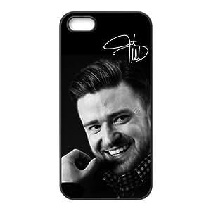 CTSLR Justin Timberlake Hard Case Cover Skin for Apple iPhone 5/5s- 1 Pack - Black/White - 6