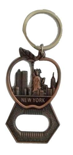Llavero de metal con forma de manzana con estatua de la libertad, recuerdos de la ciudad de Nueva York