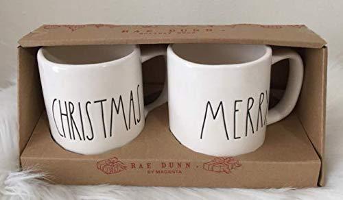 Merry Christmas Mug - Rae Dunn Set of 2 Mugs MERRY CHRISTMAS - Artisan Collection