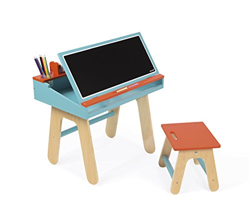 Janod Desk & Chair - Orange & Blue Desk & Chair by Janod
