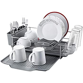 Amazon Com Kingrack Stainless Steel Dish Drying Rack With