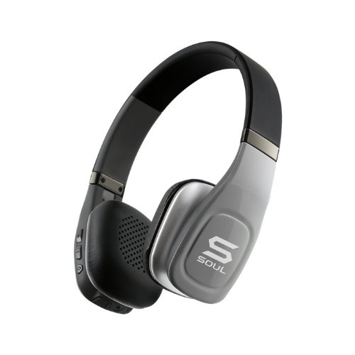 Price comparison product image SOUL Electronics SV3SLV Volt Bluetooth Pro Hi-Definition On-Ear Headphones, Silver (Discontinued by manufacter)