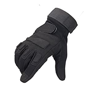 Tactical Gloves - Men's Wear-resistant Military Airsoft Gloves for Sporting Shooting Paintball Hunting Riding Motorcycle(Blackeagle Fullfinger Black,XL)