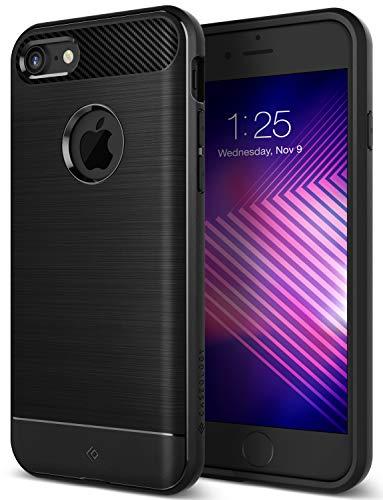 Caseology [Vault Series] iPhone 8 Case - [Rugged Matte Finish] - Black