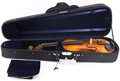 Estuche de violín, Forma triangular Estuche rígido portátil de violín con mango Manija del arco Cierre con cremallera Mochilas Correas Tela Oxford Ligero Violín profesional Bolsa de transporte Negro T: Amazon.es: Hogar