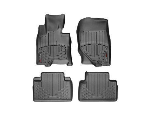 2009 Black 1st Row - WeatherTech First and Second Row FloorLiner (Black)