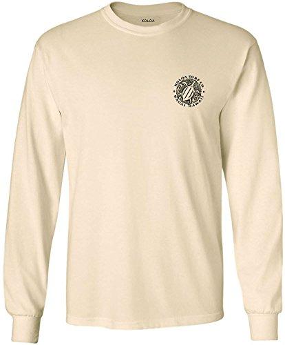 (Koloa Surf(tm) Hawaiian Turtle Logo Long Sleeve T-Shirt-Natural-XL)