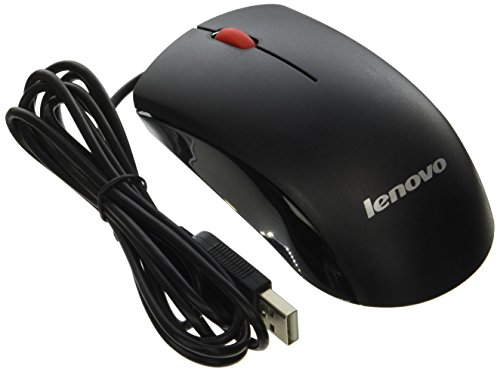 Lenovo Genuine 45J4889 M-U0025-O USB 2-Button Black Red Scroll Wheel Computer PC Optical Mouse Compatible Part Numbers: 45J4888, 25011476, 45J4889, - Pc Optical Wheel Mouse
