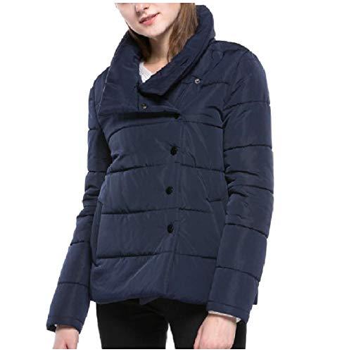 Navy Cappotto Casuale Inverno Autunno Collare Alzarsi Xinheo Donne Delle Blu Piumino 0vT80Rg