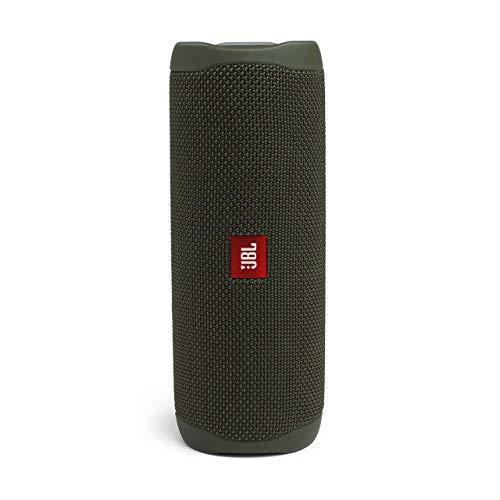 JBL JBLFLIP5GREN Flip 5 Portable Waterproof Bluetooth Speaker with Hybrid Carrying Case (Green)
