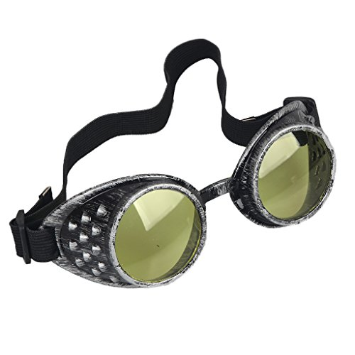 Careonline Vintage STEAMPUNK GOGGLES Glasses COSPLAY PARTY Sunglasses Eyewear Safty - Steampunk Goggle Sunglasses
