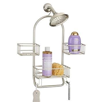 mdesign duschablage zum hngen praktisches duschregal ohne bohren aus rostfreiem metall 3 duschkrbe zum - Duschzubehor Zum Hangen