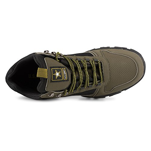 Us Army Menns Snøskred Imitert Skinn Og Mesh Fotturer Sneaker Oliven